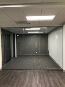 Glass wall for conference room
